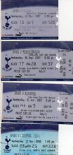 Liverpool Football League Fixture Tickets & Stubs (2004-Now)