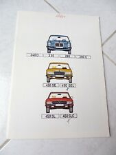 Mercedes 240D 230 280 280C 450 SE SEL SL SLC 1973 catalogue brochure prospectus
