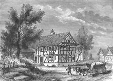 BAS-RHIN. Maison Froeschwiller Gen Raoult fut visite par Prince royal 1880