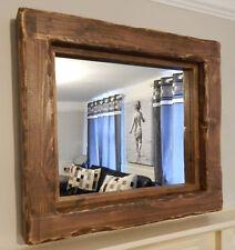 Large Mirror chunky rustic reclaimed timber wood  furniture storage medium oak
