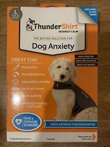 ThunderShirt Classic Dog Anxiety Jacket Vet, Solid Gray, Size Large