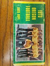 1973 OREGON DUCKS FOOTBALL MEDIA GUIDE Yearbook DUCK DOPE Press Book Program AD