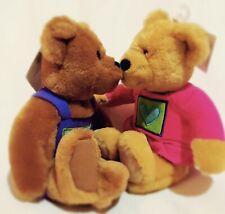 "Hallmark KISS KIsses BEARS 9"" Plush STUFFED ANIMAL Toy W/ Tag Rare Collectible"