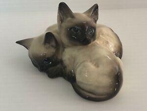 Beswick Siamese Kittens, Cats Figurine No. 1296 made in England