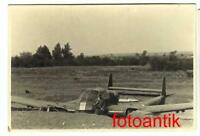 "Foto  2 WK Flugzeug Focke-Wulf Fw 189 ""Uhu"" Notlandung Kennung abgeschossen Top1"