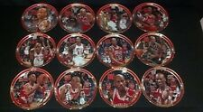 Bradford Exchange GREATEST MOMENTS Bulls Michael Jordan 12 plate complete set
