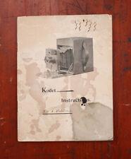 KODAK NO. 4 FOLDING KODET INSTRUCTION BOOK/cks/213755