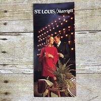 Vintage Hotel Brochure St Louis Missouri MS Marriott Travel Vacation Advertising