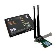 Xmedia NE-WN3800D 300Mbps Wireless-N PCIe Adapter w/2***5dBi Antenna--NEW SEALED