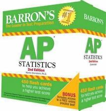 Barron's AP Statistics Flash Cards, 2nd Edition by Marty Sternstein (2014, Cards