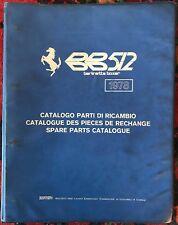 FERRARI BB 512  Spare Parts Catalogue  159/78