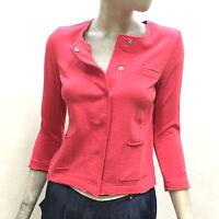 Sun68 Giacca Donna in Felpa Round Jacket Solid Cotton Estivo Corallo Blazer17240