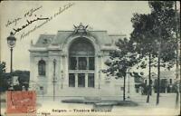 Saigon Indo China Indochina Vietnam Theatre 1906 USED Postcard