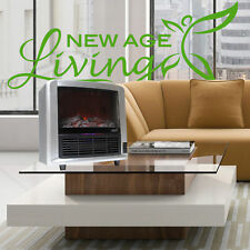 New Age Living Infrared Quartz Portable Electric Fireplace Heater Log Flame I