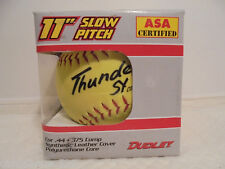 "Dudley Thunder Sy ASA Certfied 11"" Slow Pitch Softball Max .44 COR Max 375"