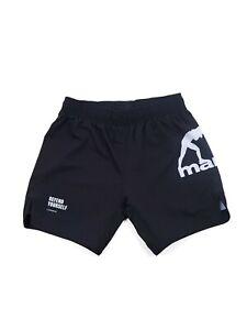Manto Fight Shorts Essential Black No-Gi Jiu Jitsu MMA Grappling Training Gym
