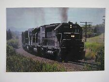 Klamath Falls OR Southern Pacific SD45 #9075 Engineer Waves 1979 Train Postcard
