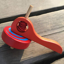 Wooden Spinning Tops Funny Educational Painted Gyro Toy Peg-top S