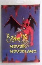 OZZFEST -- 1998 Tour -- LAMINATED BACKSTAGE PASS -- MEGADETH --- NEVER NEVERLAND