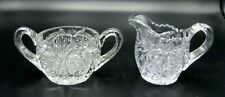 1910 CAMBRIDGE EAPG SWEETHEART CHILD'S TOY SUGAR AND CREAMER SET
