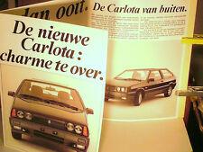 RARE DEPLIANT 1989/ 1100/1300/1500 LADA CARLOTA 3 & 5p (LADA SAMARA nederland )