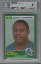 1989 Score Rookie #257 Barry Sanders RC BGS 9