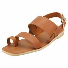 Toms Freya Womens Tan Leather Fashion Sandals