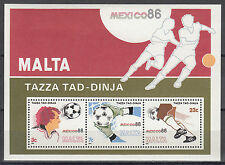 Malta Nr. Block 9** Fußball WM 1986 Mexiko