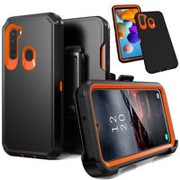For Samsung Galaxy A11 A21 Case Heavy Duty Phone Cover Holster Belt Clip Stand