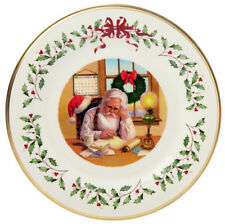 "Lenox 2016 Holiday Annual Collector Plate Santa Checking List 11"" New Boxed"