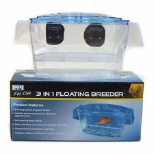 Aquarium 3 in 1 Schwimmend Zuchtnetz Zucht Betta Display Fischbrut Isolation