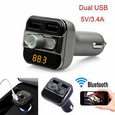 Bluetooth Car Kit FM Transmitter Car Charger Mp3 Player USB for iPhone Samsung O