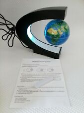 Floating Globe With Colored Led Light C Shape Anti Gravity Magnetic Globe
