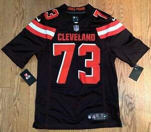 Men's Nike On Field NFL Joe Thomas Cleveland Browns Jersey #73 Dawg Pound Small