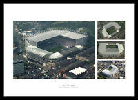 Newcastle United St James Park Stadium Aerial Photo Montage (FINUFCM)