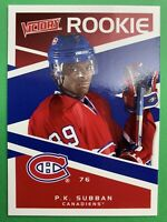 2010-11 Upper Deck Victory Rookie #228 PK Subban Montreal Canadiens Rookie