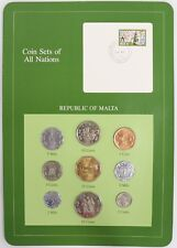 Republic of Malta - Coin Sets of All Nations Franklin Mint Postal Panel