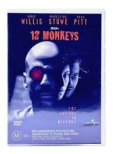 12 Monkeys - Bruce Willis  - Region 4 - (DVD 2003) FREE POST