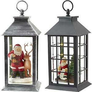 """13"""" LED Battery-Operated Holiday Lantern, Indoor/Outdoor by Eucatus"""
