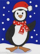 Christmas Cling On Vinyl Car Window Sticker - Penguin cc9