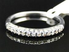Ladies White Gold Finish Pave Round Diamond Engagement Wedding Fashion Band Ring