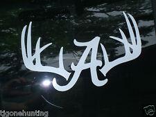 Alabama Deer Antler Decal, Truck Deer Decal, Alabama Decal