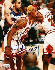 DENNIS RODMAN SIGNED 8x10 CHICAGO BULLS vs TORONTO RAPTORS NBA PHOTO LAKER SPURS