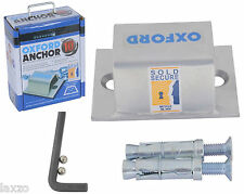 Oxford 10 High Security Ground Wall Anchor Brute Force Sold Secure Silver -LK395
