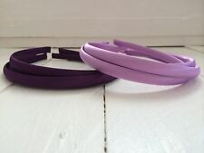 Pack of 6 Purple & Lilac Satin Hairbands Headbands Alice Bands