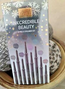 INKcredible Waterproof Gel 8 Piece Eyeliner Pencil Collection NIB!