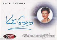 JAMES BOND IN MOTION A87 KATE GAYSON CASINO GIRL AUTOGRAPH *LIMITED*