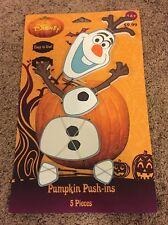 New DISNEY  Halloween  Frozen  OLAF  Pumpkin Push-ins Decoration 5 Pieces