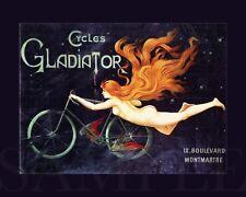 Cycles Gladiator Vintage 1900s Picture 8X10 New Fine Art Color Nouveau Print Old