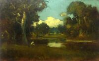 Oil painting Berkeley Oaks by William Keith nice impressionism landscape canvas